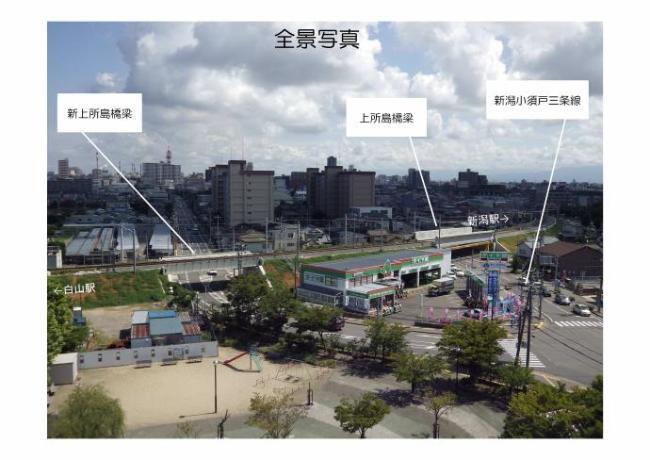 連続立体交差事業・上所付近の状況写真 新潟市