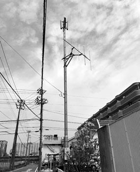 写真 津波対策として設置されている同報無線(中央区)