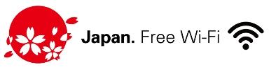 Japan.Free Wi-Fiロゴマークの画像